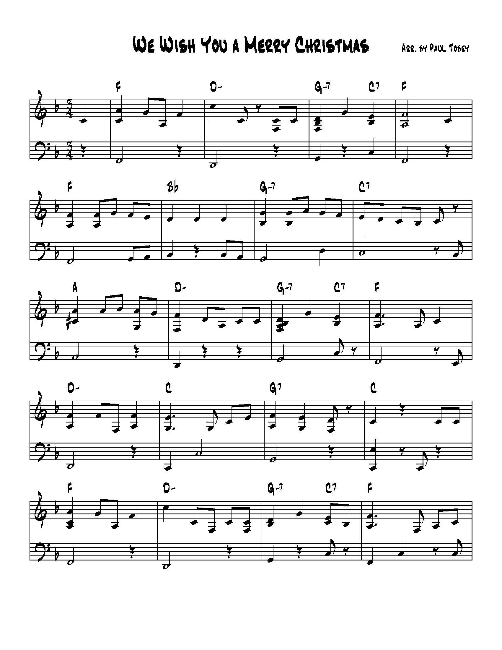 We Wish You A Merry Christmas Piano.We Wish You A Merry Christmas Sheet Music