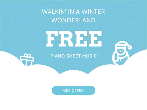Free Walkin In a Winter Wonderland Sheet Music